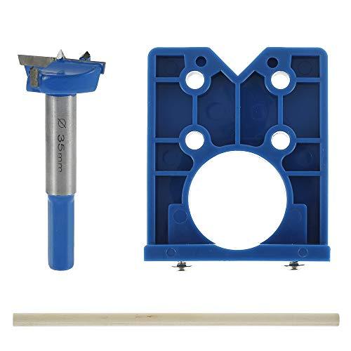 Scharnierbohrer, Bohrschablone für Topfscharniere,35mm Scharnier Bohren Jig Bohrschablone für Holzverarbeitung, Lochbohren, DIY Werkzeug