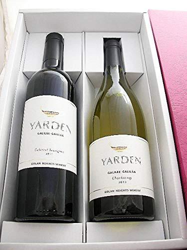 【贈り物・ギフトに・ヤルデン】特選ヤルデン紅白2本セット 化粧箱入り【イスラエル産・白ワイン×1・赤ワイン×1・辛口・750ml】