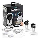 Geeni Aware 1080p Indoor Smart Home Security Camera with 2-Way Talk, Night Vision and Motion Alerts, Works with Alexa and Google Assistant, No Hub Required, White (2 Pack)