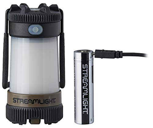 Streamlight 44956 Siege X USB Ultra-Compact, Multi-Fuel Hand Lantern/Flashlight Combo -Rechargeable USB battery & USB cord - Coyote - 325 Lumens