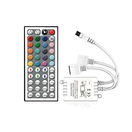 Arote LED RGB Controller 44key, LED Fernbedienung IR Remote Kontroller Steuerung für RGB Strip SMD 2835 5050 Streifen Lichtband Farbwechsel Led Lichtleiste DC 12V