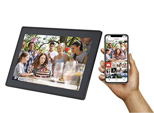 DENVER PFF-1513BLACK digitale fotolijst 15 inch met wifi, timer, foto-software voor het verzenden van fotos van de mobiele app naar het frame, resolutie: 1920 x 1080