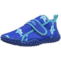 Playshoes Zapatillas de Playa con protección UV Tiburón, Zapatos de Agua Unisex Niños, Azul (Blau 7), 28/29 EU