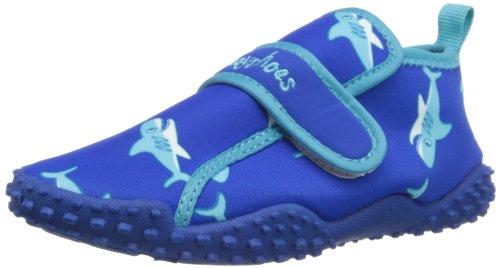 Playshoes Zapatillas de Playa con protección UV Tiburón, Zapatos de Agua Unisex Niños, Azul (Blau 7), 24/25 EU