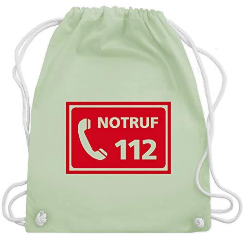 Shirtracer Feuerwehr - Feuerwehr - Notruf - Unisize - Pastell Grün - Einsatz - WM110 - Turnbeutel und Stoffbeutel aus Baumwolle
