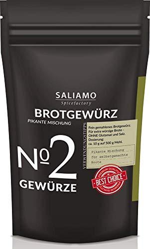 Brotgewürz-pikante Mischung 100 g | Saliamo | ohne Geschmacksverstärker, ohne künstliche Zusatzstoffe