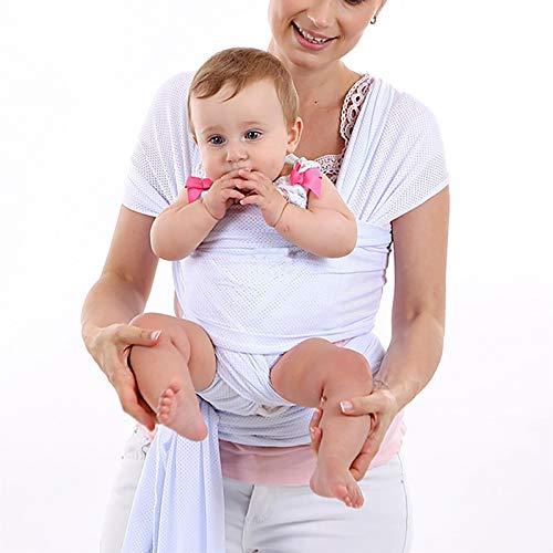 G&F Abrigo Bebé Infantil Portador Cabestrillo Bebés Recién Nacidos Y Niños Pequeños hasta 10 Kg (Color : White)