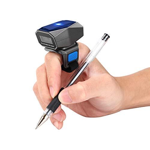 Scanner de code à barres à anneau 2D Eyoyo mis à jour Bluetooth, USB filaire, mini lecteur de code à barres portable sans fil 2,4 G, lecteur de code à barres 1D 2D QR