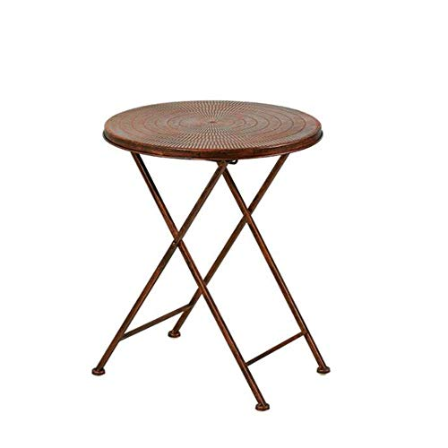 Bed Table, Tables Folding Snack Table, Vintage Round Table, Outdoor Wrought Iron Sofa Side Table,2 Sizes Coffee Table Color : Retro, Size : 15.3520.07in ( Color : Retro , Size : 15.35*20.07in )
