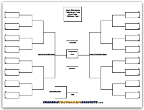 ZieglerWorld 32 Player Erasable Blind Draw Single Elimination Tournament Bracket Chart + Erasable Pen