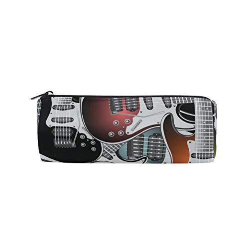 Coloridas guitarras eléctricas Rock Music Stringed Instruments Pen Case School Pencil Holders...