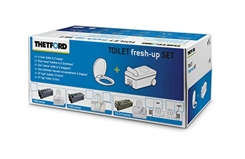Thetford Fresh Up Set C de 2/3/4izquierda con ruedas + Mango Incluye Gafas/Tapa, Tank Cleaner (1l....