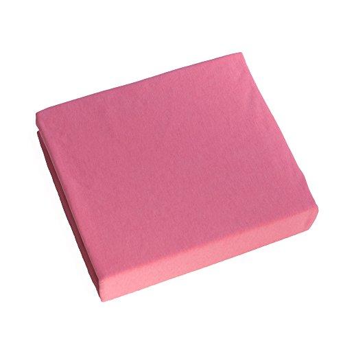 Jersey 100% Baumwolle Spannbetttüch, Passend für 160 x 70 Juniorbett Matratze (Pink)