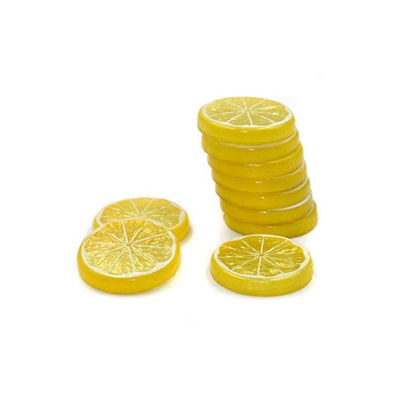 silk flower arrangements hagao fake lemon slice artificial fruit highly simulation lifelike model for home party decoration yellow 10 pcs
