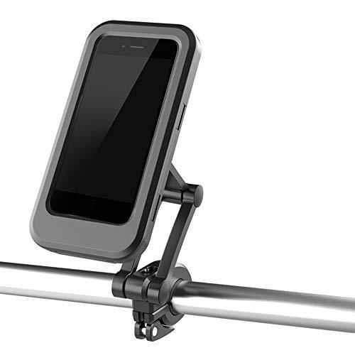 No application Soporte de teléfono para bicicleta, universal, para manillar de bicicleta, motocicleta, cierre de una llave, impermeable, apto para iPhone 12 11 Pro Max Xs 8 Galaxy S20 S21