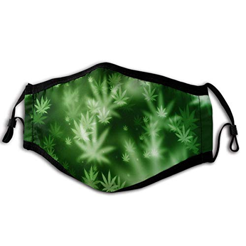 Mundschutz Maske Cannabis Leaf (5) kann in Büros verwendet Werden, die für Haustiere und überfüllte Orte mit elastischem Ohrbügel empfindlich sind