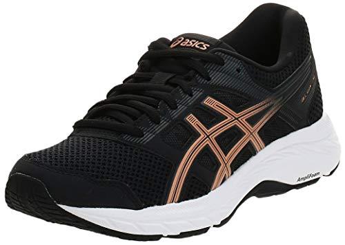 Asics Gel-Contend 5, Zapatillas de Running Mujer, Negro (Black/Summer Dune 001), 37.5 EU