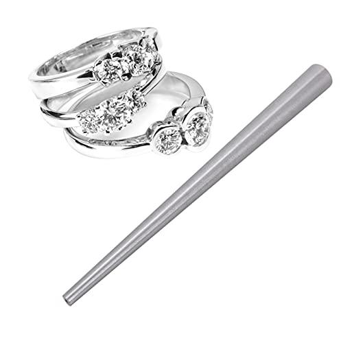 Anillos Ring Sizer para Medir Dedos,uego de anillos de acero inoxidable, varilla de aumento, herramienta para la fabricación de joyas y formación de anillos, anillos medidores de tamaño de los dedos