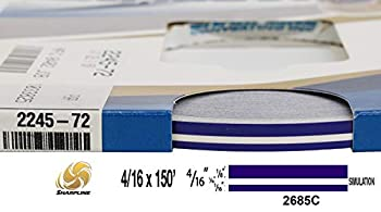 "Universal SL 0004007 - Auto Customizing Dual Pinstripe - 4/16  x 150   1/8"" Stripe 1/16  Gap Then 1/16"" Stripe  - 007-Regal Purple"