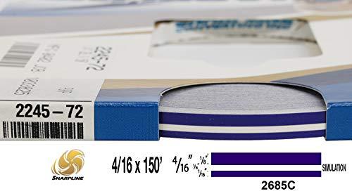 "Universal SL 0004007 - Auto Customizing Dual Pinstripe - 4/16"" x 150' (1/8"" Stripe, 1/16"" Gap, Then 1/16"" Stripe) - 007-Regal Purple"