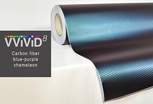 VViViD Chameleon Carbon Fiber Purple to Blue Oil Slick Stretch Conform Caste Vinyl Wrap Decal Roll XPO (6ft x 5ft)