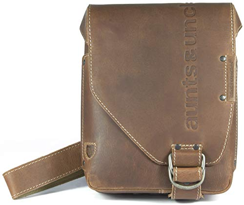 aunts & uncles - JADE Postbag S vintage tan, 40549-30, Herren-Umhängetasche Leder Braun