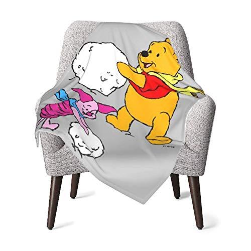 The Pooh-Snowball - Manta de bebé de poliéster de felpa súper suave y cálida para niña y niño acogedora manta para cuna, cochecito