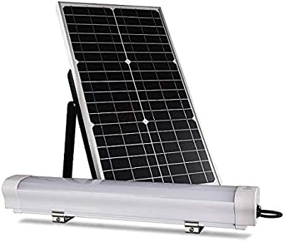 LEDMyplace LED Solar Batten Light, 12W w/ 30W Solar Panel, 6000K, 1200