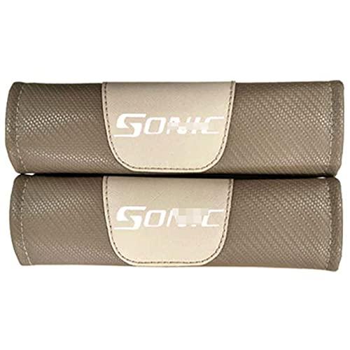 2 Piezas Hombreras Cubierta Cinturón Seguridad Automóvil Para Chevrolet Sonic, Fibra Carbón Almohadilla Hombro Correa Cinturón Seguridad Cojines Hombro Mangas Protectoras Confort Suave