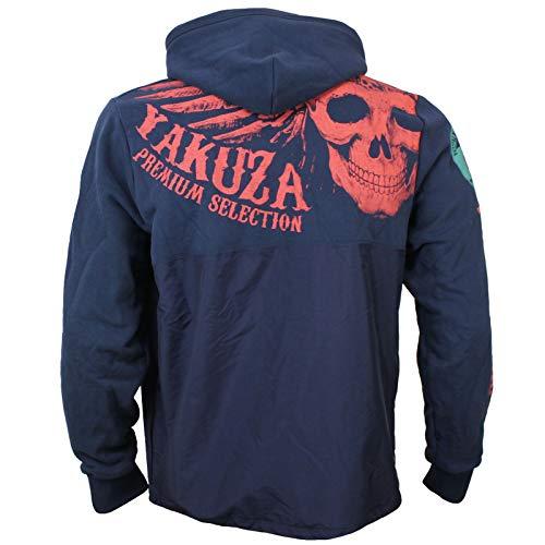 Yakuza Premium Herren Zipp Sweater 2826 Navy Hoodie Windjacke