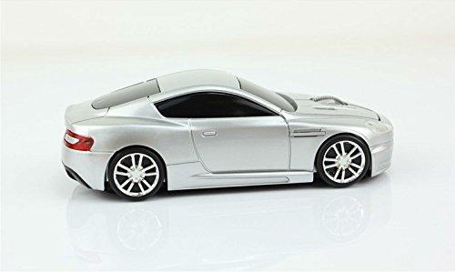Klein Design FTD-MS136 Aston Martin Style optische Maus/Mouse schnurlos/Wireless Silber