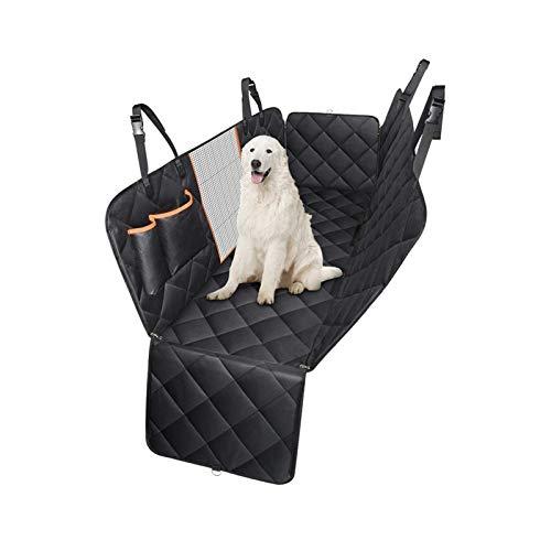 Cubiertas de asiento de coche para perros 3 en 1 Cubierta protectora de asiento trasero de mascota con malla Ventana visual Impermeable y resistente a prueba de agua y NUNCLIP PET CUBIERTA DE ASIENTO