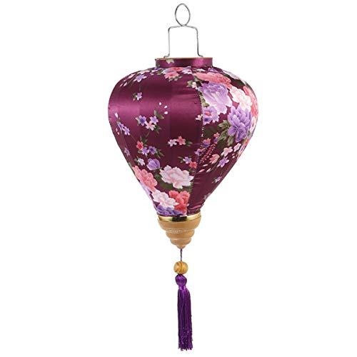 Wakauto Chino Japonés Flores Linterna Seda Oriental Decoración Colgante Linternas Decoraciones de Año Nuevo para Festival Fiesta de Mediados de Otoño