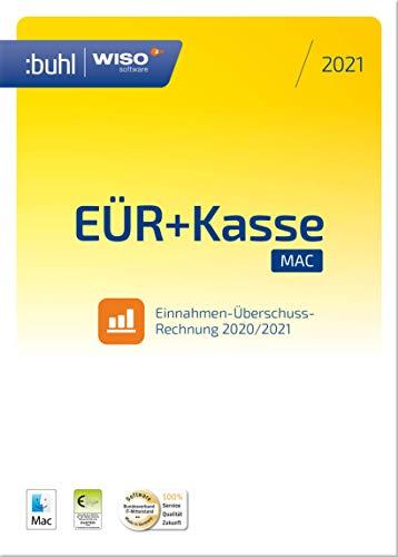WISO EÜR+Kasse Mac 2021: Für die Einnahmen-Überschuss-Rechnung 2020/2021 inkl. Gewerbe- und Umsatzsteuererklärung | 2021 | Mac | Mac Aktivierungscode per Email