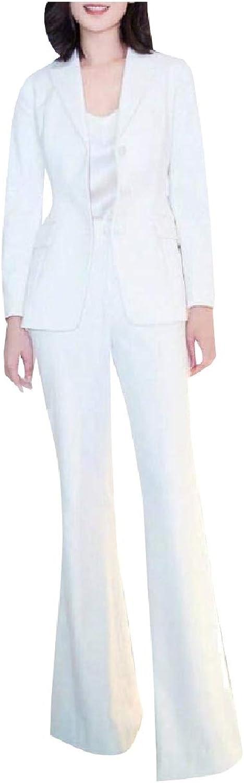 Winme Women's Blazer Long Pants Career One Button 2 Pieces Outfits Suit