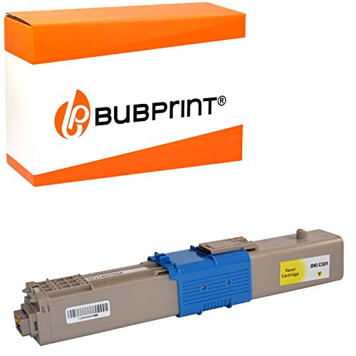 Bubprint Toner kompatibel für OKI C301 C301DN C321 C321DN MC332 MC332DN MC340 MC342 MC342DN MC342DNW - 44973533 1.500 Seiten Gelb