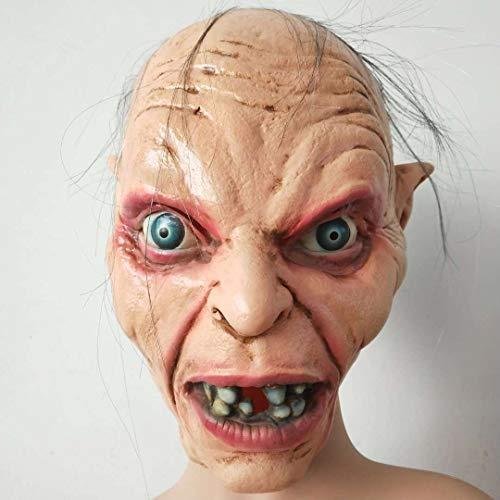 DFLMBV Maske,Halloween Ring Meister der Gowd Horror Maske Zombie Headset Latex