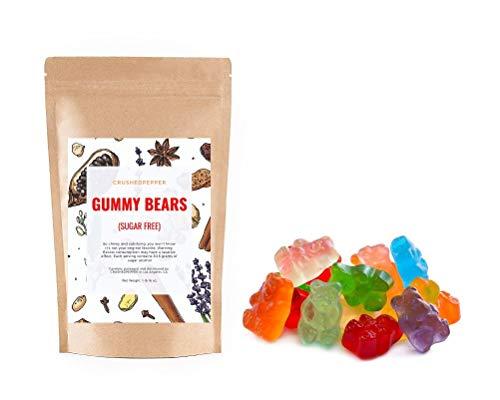 SUGAR FREE GUMMY BEARS Keto 1 lb / 16 oz Candy Snack Resealable bag