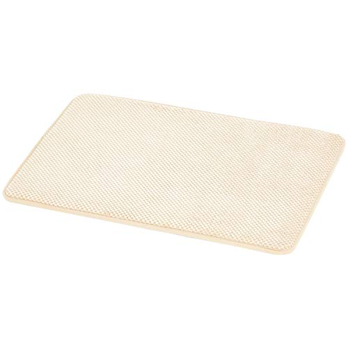 Amazon Basics Textured Memory Foam Bath Mat - Beige, Small