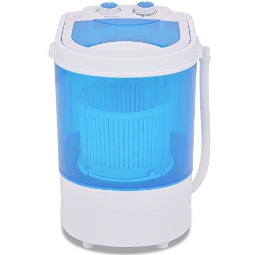 vidaXL Mini Waschmaschine mit Schleuder 1 Kammer 15-Minuten-Timer Wäscheschleuder Waschautomat Camping Miniwaschmaschine 2,6kg Kunststoff