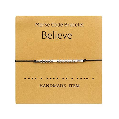 SDCAJA Bracelet for Couple Password Alphanumeric Couple Bracelet Best Valentine's Day Gift