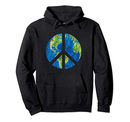 Peace On Earth World Peace Sign Pullover Hoodie