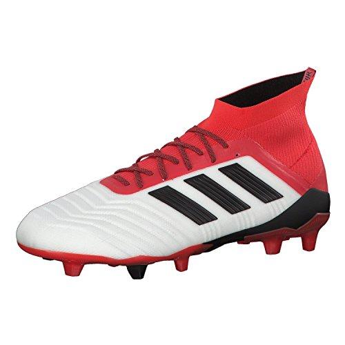 adidas Herren Predator 18.1 Fg Fußballschuhe, Weiß (Footwear White/Core Black/Real Coral), 41 1/3 EU