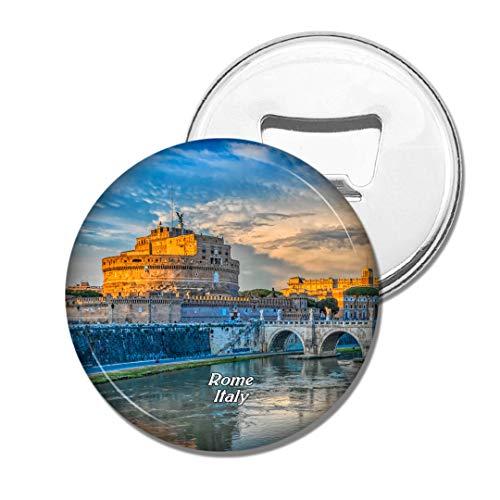 Weekino Italien Castel Sant'Angelo Bridge Rom Bier Flaschenöffner Kühlschrank Magnet Metall Souvenir Reise Gift