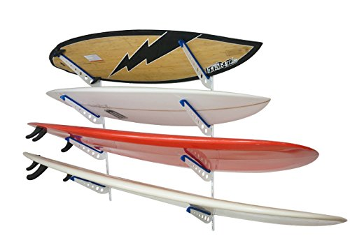 StoreYourBoard Metal Surfboard Storage Rack, 4 Surf...