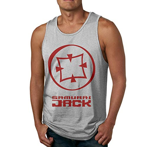 HJYR Mens Camiseta sin mangass Samurai Jack Soft Sleeveless T Shirt