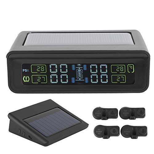 Gaeirt Detector de presión de neumáticos, Monitor de presión de neumáticos Que Ahorra Combustible a Prueba de Agua para Carga Solar