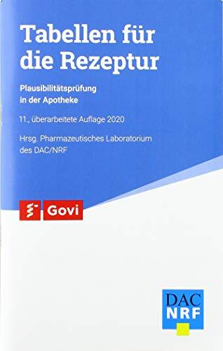 Tabellen für die Rezeptur: Plausibilitätsprüfung in der Apotheke (Govi)