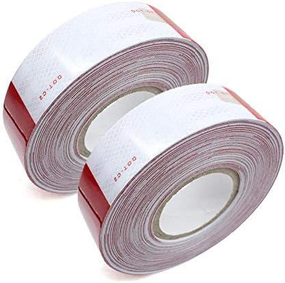 2 Pcs 2 x150 DOT C2 Reflective Tape Conspicuity Tape DOT Tape product image
