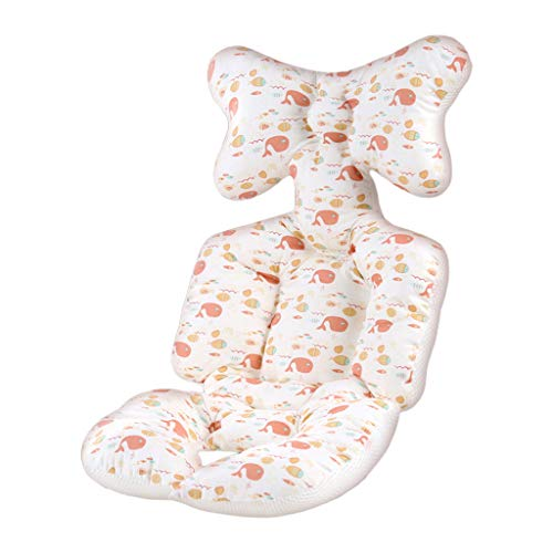 Manyao - Cojín reductor para silla alta, cojín universal de algodón puro, cojín de silla alta para cochecito, 26,77 x 13,39 in (Baleine Orange)